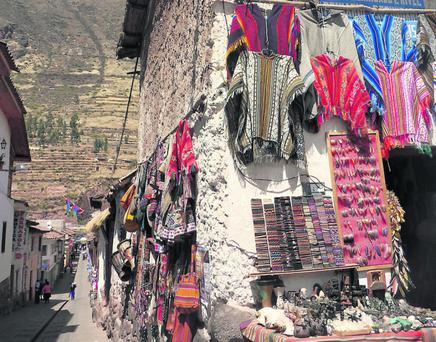 Pisac market in Cusco