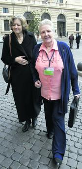 Marie Collins, right, who was assaulted as a 13-year-old by a hospital chaplain