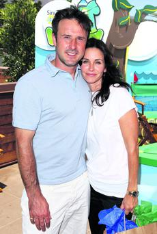 David Arquette and Courtney Cox.