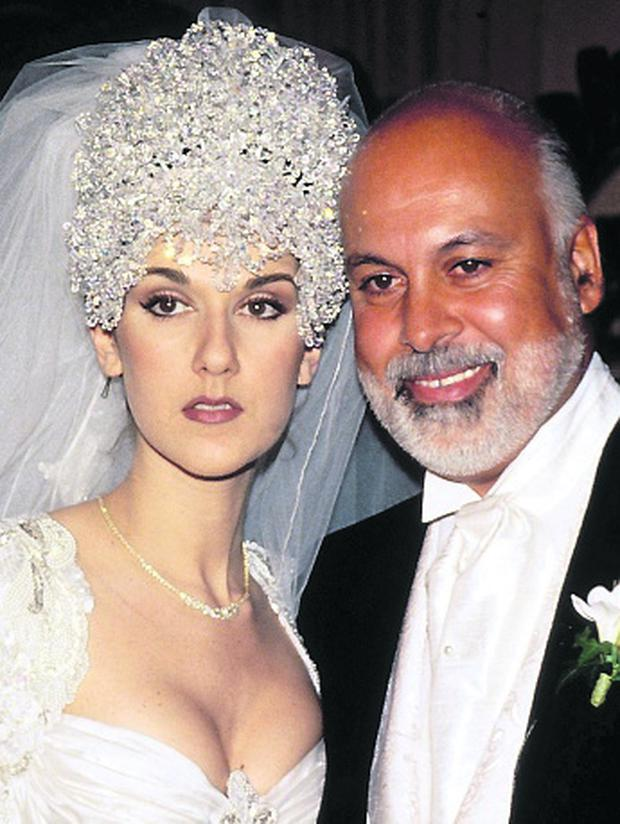 Celine Dion In Montreal, Canada In May, 1996-December, 17, 1994, during her wedding with Rene Angelil. (Photo by Getty Images)