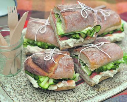 Smoked Salmon Baguettes with Dill Cream Cheese