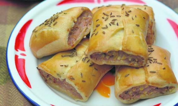 Fennel, Pork and Apple Sausage Rolls