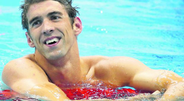 Michael Phelps during the 2012 Olympic Games