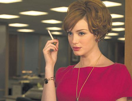 STATES DRAMA: Christina Hendricks as Joan Holloway in the US drama series 'Mad Men', one of the popular American imports shown by RTE