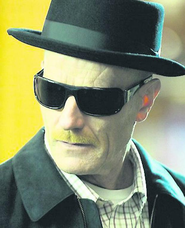 Actors Bryan Cranston Walter White in th hit American television series 'Breaking Bad'.