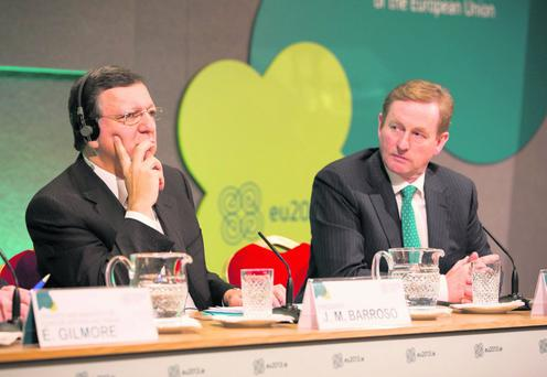 Taoiseach Enda Kenny – pictured with European Commission President Jose Manuel Barroso in Dublin earlier this month – must beware the impact any change in the UK's relationship with the European Union would have on Ireland