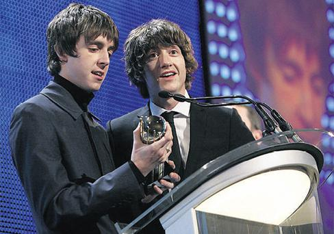 The Last Shadow Puppets' Alex Turner and Miles Kane.