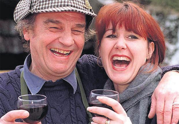 Keith Floyd with fourth wife Tess