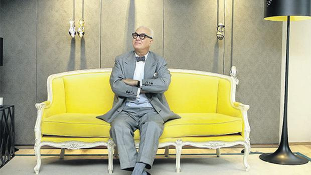 Manolo Blahnik at the launch of his exclusive new boutique at the Brown Thomas store in Dublin