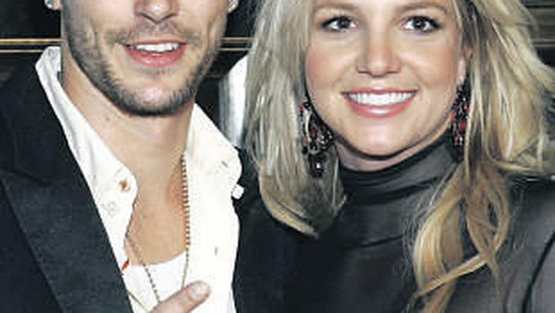 Britney Spears and Kevin Federline, who seems to be saying, 'I'm Britney's short-term husband number two'