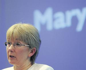 The class struggle: Education Minister Mary Hanafin under fire at the ASTI Conference in Killarney yesterday