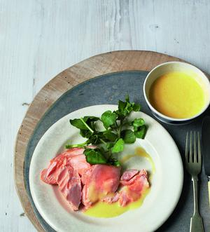 Poached Salmon with Irish Butter Sauce