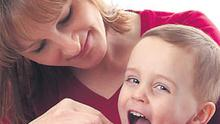 BRUSHING UP: Parents have been urged to bond with their children over tooth-brushing