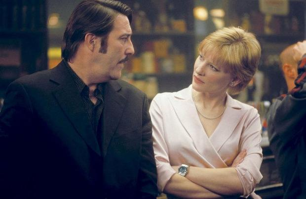 Ciaran Hinds and Cate Blanchett in 'Veronica Guerin' .
