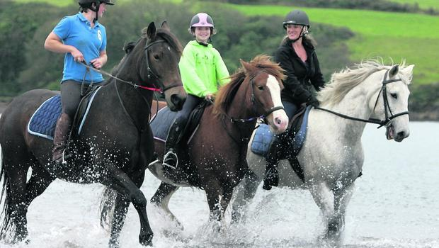 SI Dingle Horse riding on the beach at Dingle . Pix Ronan Lang/Feature File
