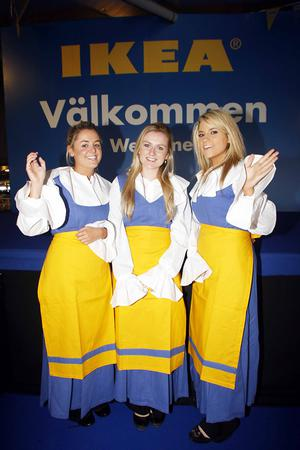 Pictured on the IKEA opening day at Ballymun were IKEA girls, Emma Cullen, Muirreann Judge and Maria Morris