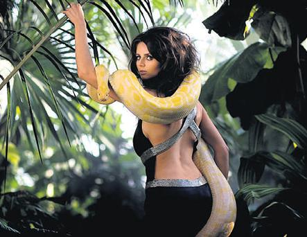 Emma Quinlan from Castleknock pictured with her pet snake Bubbles