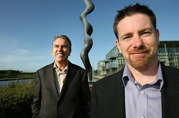 Intune: CEO Tim Fritzley and chief marketing officer John Dunne.