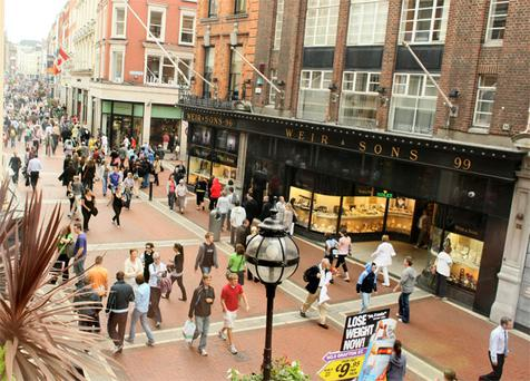 Grafton Street: high rents