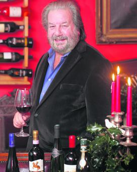 Paulo Tullio christmas wine at home in Annamoe. PIx Ronan Lang/Feature File