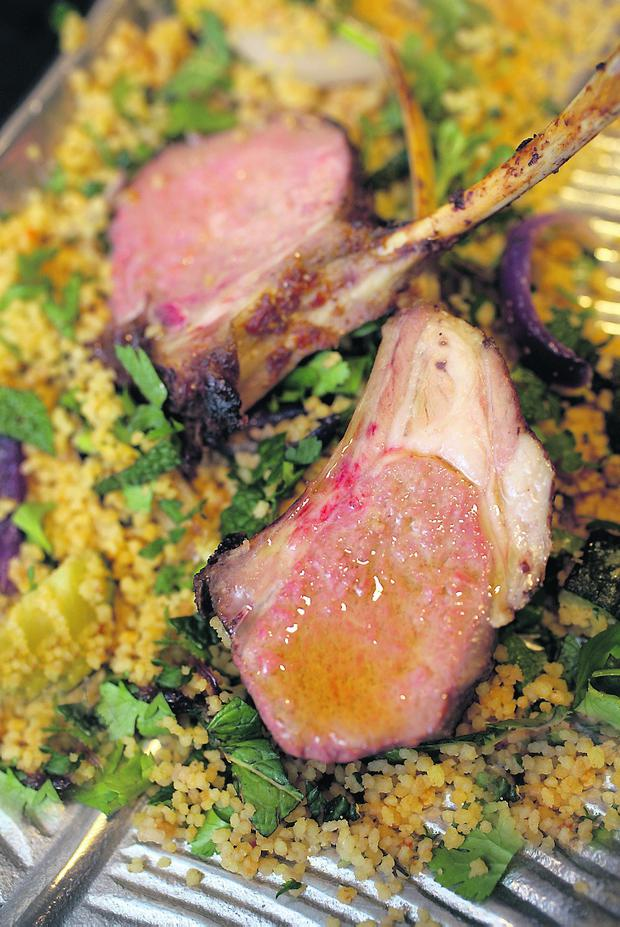 Rozanne Stevens Canapes Lamb cutlets/couscous Pix Ronan Lang/FEature File