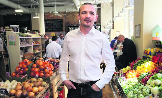 Director Paul Byrne of Fallon & Byrne in his shop on Exchequer Street