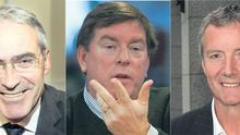 GRAHAM MARTIN (left): Package worth €10.7m, KELLY MARTIN (centre): Was paid €8.5m and  AIDAN HEAVEY (right): earned €8.03m