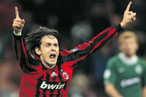 AC Milan's Filippo Inzaghi in his playing days for the club