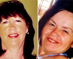 The victims: Marion Graham (left) and her friend Kathy Dinsmore
