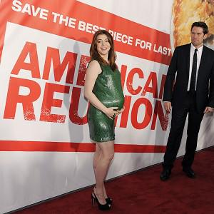 Alyson Hannigan wore a tight green dress to the premiere