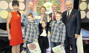 Stephen Victory (centre left) with his mum, Marie, twins Nathan and Joshua (9) and daughter, Hannah (4).