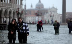 High water in Venice reached 149cm, the sixth highest level since records began in 1872.