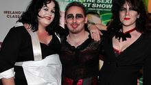 Angharad Williams, Karl McKiernan and Anne Gilhooly at the opening night of the Rocky Horror Picture Show at the Grand Canal Theatre, Dubln. Photo: Collins