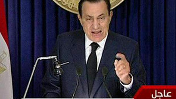 Egyptian President Hosni Mubarak said he would not stand for office again (AP)