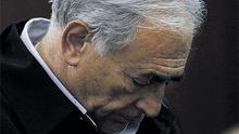 Dominique Strauss-Kahn, head of the International Monetary Fund, is arraigned in Manhattan Criminal Court, New York, for the alleged attack on a maid at a hotel near Times Square