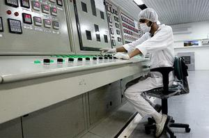 An Iranian technician works at the Uranium Conversion Facility near Isfahan. Stuxnet attacked Iran's nuclear programme in 2010. Photo: AP
