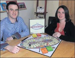 Richard and Maggie Kelly creators of the boardgame, SMORGASBOARD who raised €8,750 on the site from 113 people who supported the manufacture of their first games.