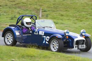 Victim: it is understood that Sandra Harrison-Moore, pictured, raced an L7-2 Caterham Roadsport 1800 car regularly with her husband and had competed in similar motoring events across the country as a hobby