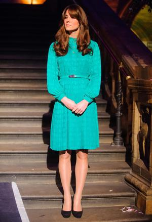 Britain's Catherine, Duchess of Cambridge listens during a visit to the Natural History Museum where she officially opened the new Treasures Gallery, in central London November 27, 2012.    REUTERS/Dominic Lipinski/Pool     (BRITAIN - Tags: ENTERTAINMENT SOCIETY ROYALS)