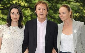 In the genes? Sir Paul McCartney and daughters Mary (left) and Stella advocate Meat-Free Mondays