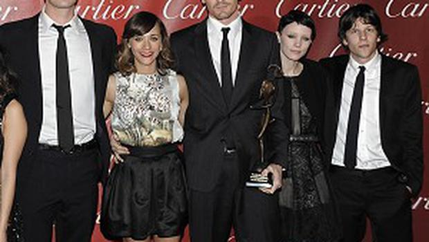 The cast of The Social Network, which has been named best film by America's top critics