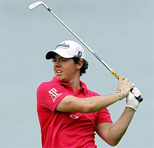 Rory McIlroy in action in Singapore