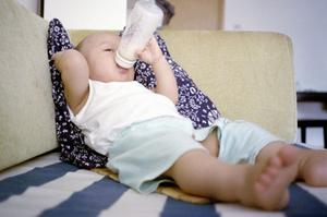 A study found that those who were still being put to bed with a bottle of milk at age two were 30pc more likely to be obese by the time they turned five. Photo: Thinkstockphotos.com