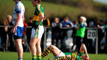 Kerry's David Moran suffers a torn cruciate ligament against Monaghan last Sunday. Photo: Ray McManus / Sportsfile