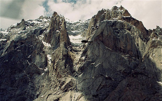 The Siachen glacier on Pakistan-India border. An avalanche smashed into a Pakistani army base on the Himalayan glacier close to India on Saturday, April 7, 2012, burying around 130 soldiers. Photo: AP