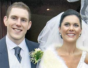 Michaela Harte and John McAreavey on their wedding day