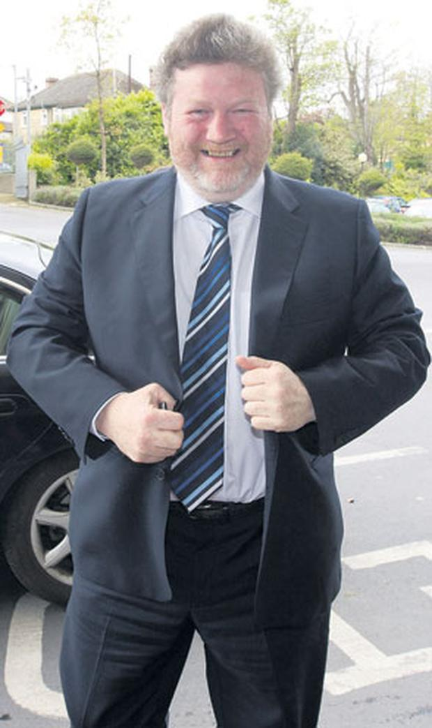 Health Minister Dr James Reilly arriving at the Fine Gael Dublin North fundraiser in the Grand Hotel, Malahide, yesterday