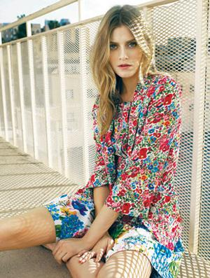 Floral jacket, €65; dress, €53, both Warehouse