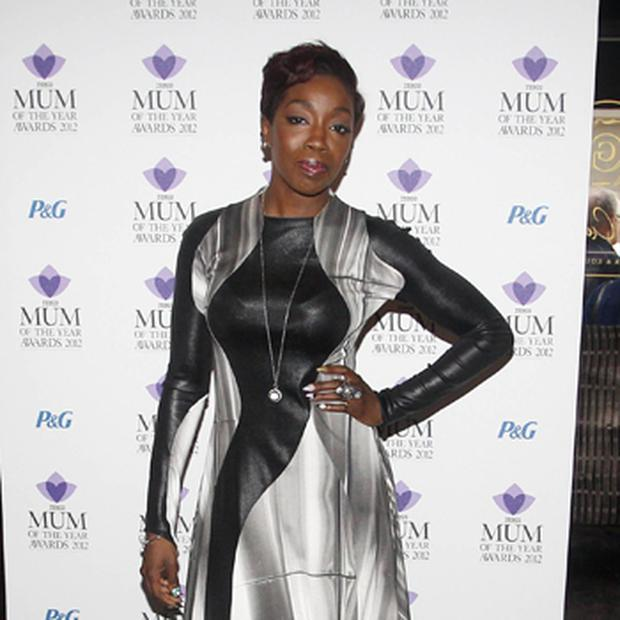 Jamelia arrives at the Tesco Magazine Mum Of The Year 2012 at The Waldorf Hilton Hotel, London. Photo: PA