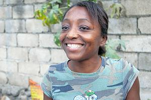 Lundi Gresseau lives in one of the makeshift camps which surround Port-au-Prince